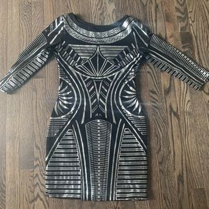 Arden B black and silver dress
